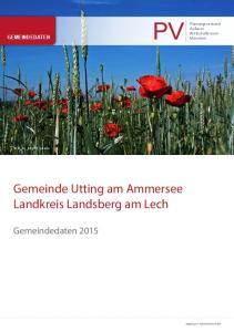 Gemeinde Utting am Ammersee Landkreis Landsberg am Lech