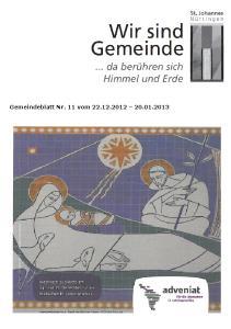 Gemeindeblatt Nr. 11 vom