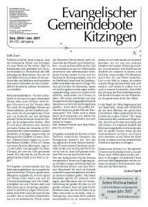 Gemeindeboter Kitzingen