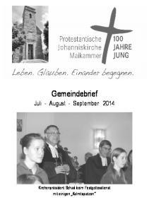 Gemeindebrief Juli - August - September 2014