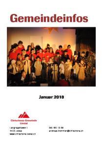 Gemeindeinfos Januar 2018