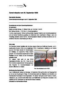 Gemeindeseite vom 26. September 2009