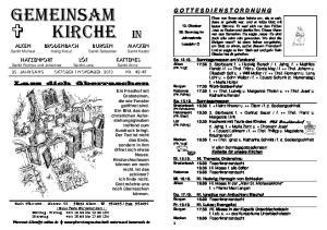 GEMEINSAM KIRCHE IN Alken Brodenbach Burgen Macken Sankt Michael Heilig Kreuz Sankt Sebastian Sankt Kastor