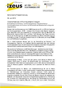 Gemeinsame Pressemitteilung. 25. Juni 2014