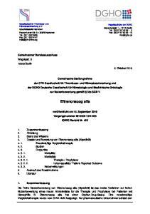 Gemeinsamer Bundesausschuss Wegelystr Berlin 6. Oktober 2016