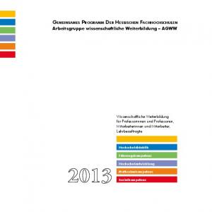 Gemeinsames Programm Der Hessischen Fachhochschulen