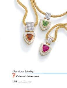 Gemstone Jewelry. Colored Gemstones