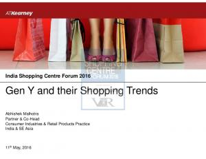 Gen Y and their Shopping Trends
