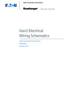Gen2 Electrical Wiring Schematics