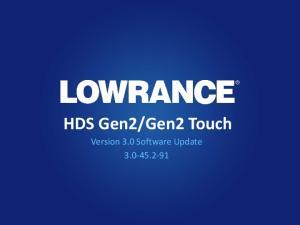 Gen2 Touch. Version 3.0 Software Update