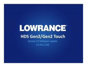 Gen2 Touch Version 3.5 Software Update