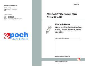GenCatch Genomic DNA Extraction Kit