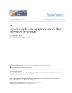 Gen.com: Youth, Civic Engagement, and the New Information Environment
