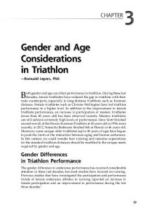 Gender and Age Considerations in Triathlon
