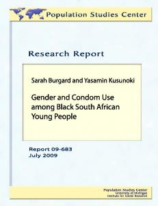 Gender and Condom Use among Black South African Young People