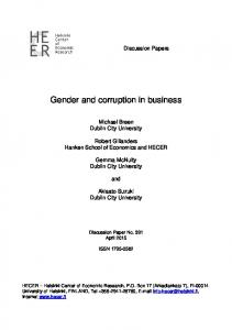 Gender and corruption in business