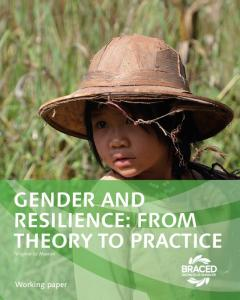 GENDER AND RESILIENCE: FROM THEORY TO PRACTICE Virginie Le Masson