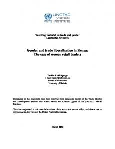 Gender and trade liberalization in Kenya: The case of women retail traders