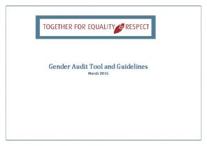 Gender Audit Tool and Guidelines