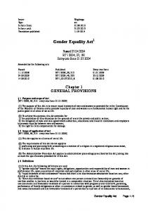 Gender Equality Act 1