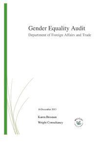 Gender Equality Audit