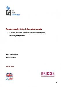 Gender equality in the information society