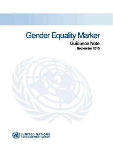 Gender Equality Marker