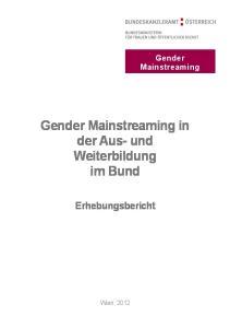 Gender Mainstreaming in der Aus- und Weiterbildung im Bund