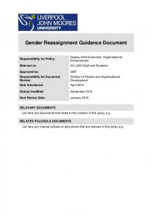 Gender Reassignment Guidance Document