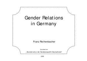 Gender Relations in Germany