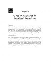 Gender Relations in Troubled Transition