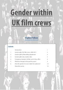 Gender within UK film crews