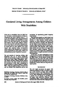 Gendered Living Arrangements Among Children With Disabilities