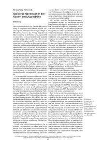 Genderkompetenzen in der Kinder- und Jugendhilfe