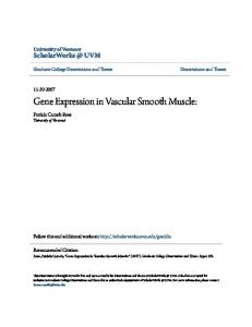 Gene Expression in Vascular Smooth Muscle: