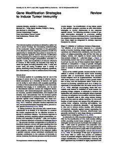 Gene Modification Strategies to Induce Tumor Immunity