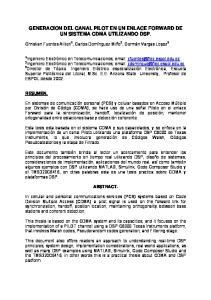 GENERACION DEL CANAL PILOT EN UN ENLACE FORWARD DE UN SISTEMA CDMA UTILIZANDO DSP