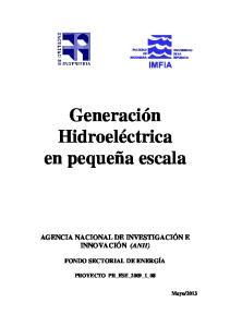 Generación Hidroeléctrica en pequeña escala