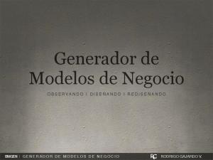 Generador de Modelos de Negocio