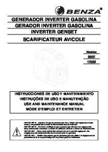 GENERADOR INVERTER GASOLINA GERADOR INVERTER GASOLINA INVERTER GENSET SCARIFICATEUR AVICOLE