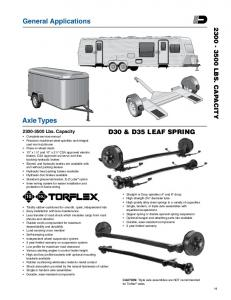 General Applications. Axle Types. d30 & D35 leaf spring lbs. capacity 10 10L Lbs. Capacity