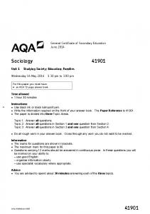 General Certificate of Secondary Education June 2014