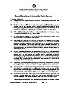 General Conditions of Contract for Works Contract