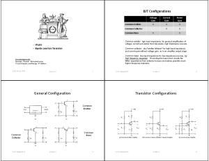 General Configuration. Transistor Configurations. BJT Configurations. LTspice Bipolar Junction Transistor. Voltage Gain