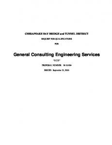 General Consulting Engineering Services