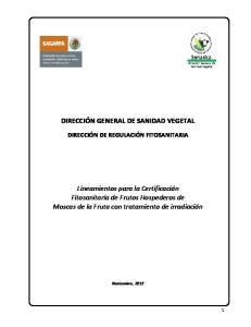GENERAL DE SANIDAD VEGETAL