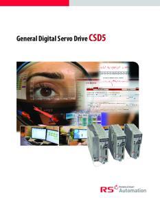 General Digital Servo Drive CSD5