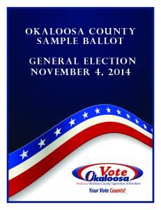 General Election November 4, 2014