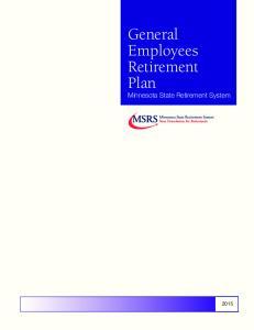 General Employees Retirement Plan. Minnesota State Retirement System
