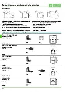 General information about solenoid valve technology